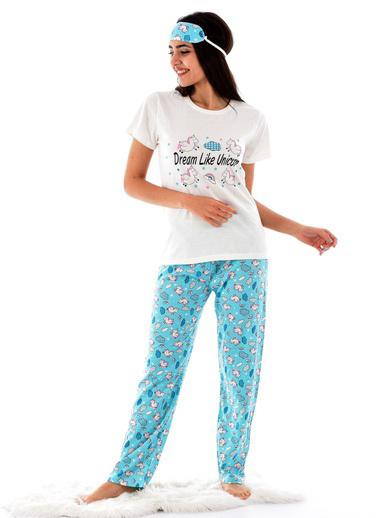 Pemilo Pijama Takım Ekru